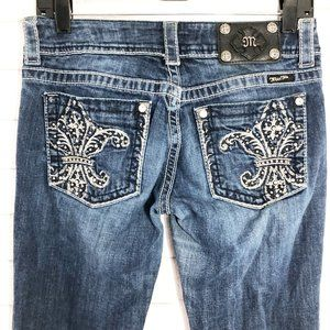 Miss Me Bling Pocket Bootcut Jeans, Size 28
